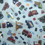 Lätzchenstoff Fahrzeuge hellblau