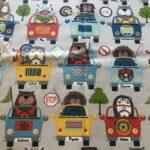 Stoff_Tiere in Fahrzeuge